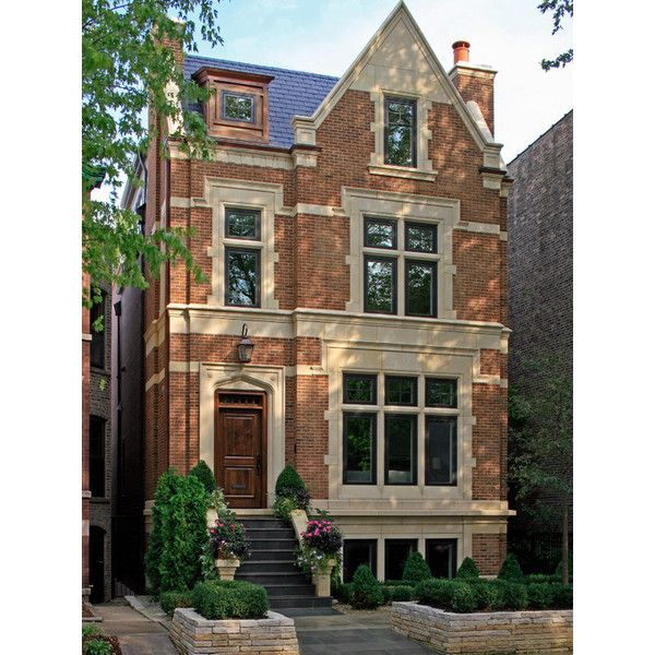 Cheap Apartments Outside Bricks: Brick Townhouse Liked On Polyvore Featuring House, Home