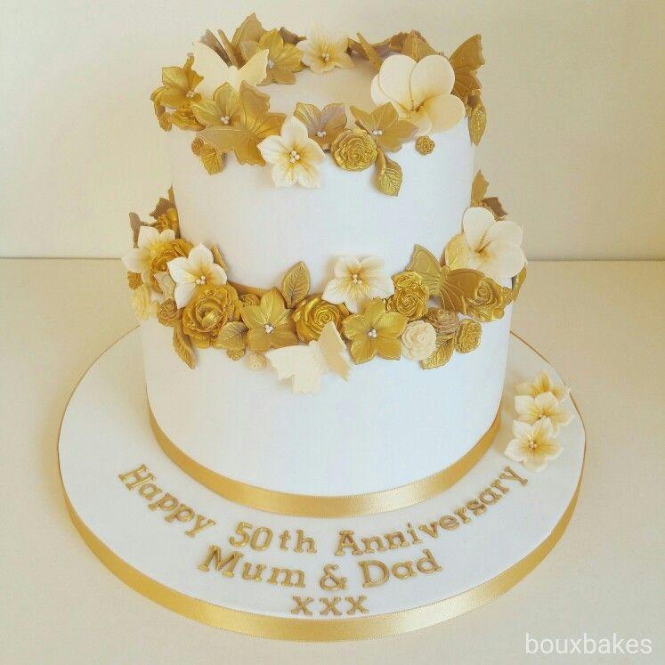 Wedding Cake Wedding Cakes 5oth Wedding Anniversary Cakes Elegant ...