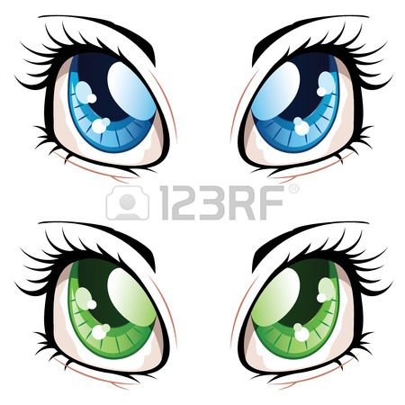 Anime Eyes Stock Vector Illustration And Royalty Free Anime Eyes Clipart Manga Eyes Anime Eyes Anime Style