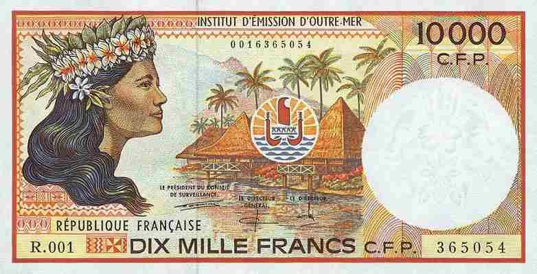 Tahiti S Currency Is The French Pacific Franc Cfp About 100 Equal One U Dollar