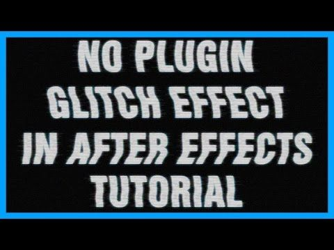 Adobe After Effects Glitch Effect Intro Template Tutorial 2D NO ...
