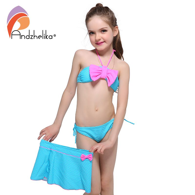 4ebab8b790f20 Andzhelika Children's Swimwear 2017 New Dress Girls Bikini Cute Dot Bow tie Swimsuit  Child Bikini Set Swim Suit For Girl // FREE Worldwide Shipping!