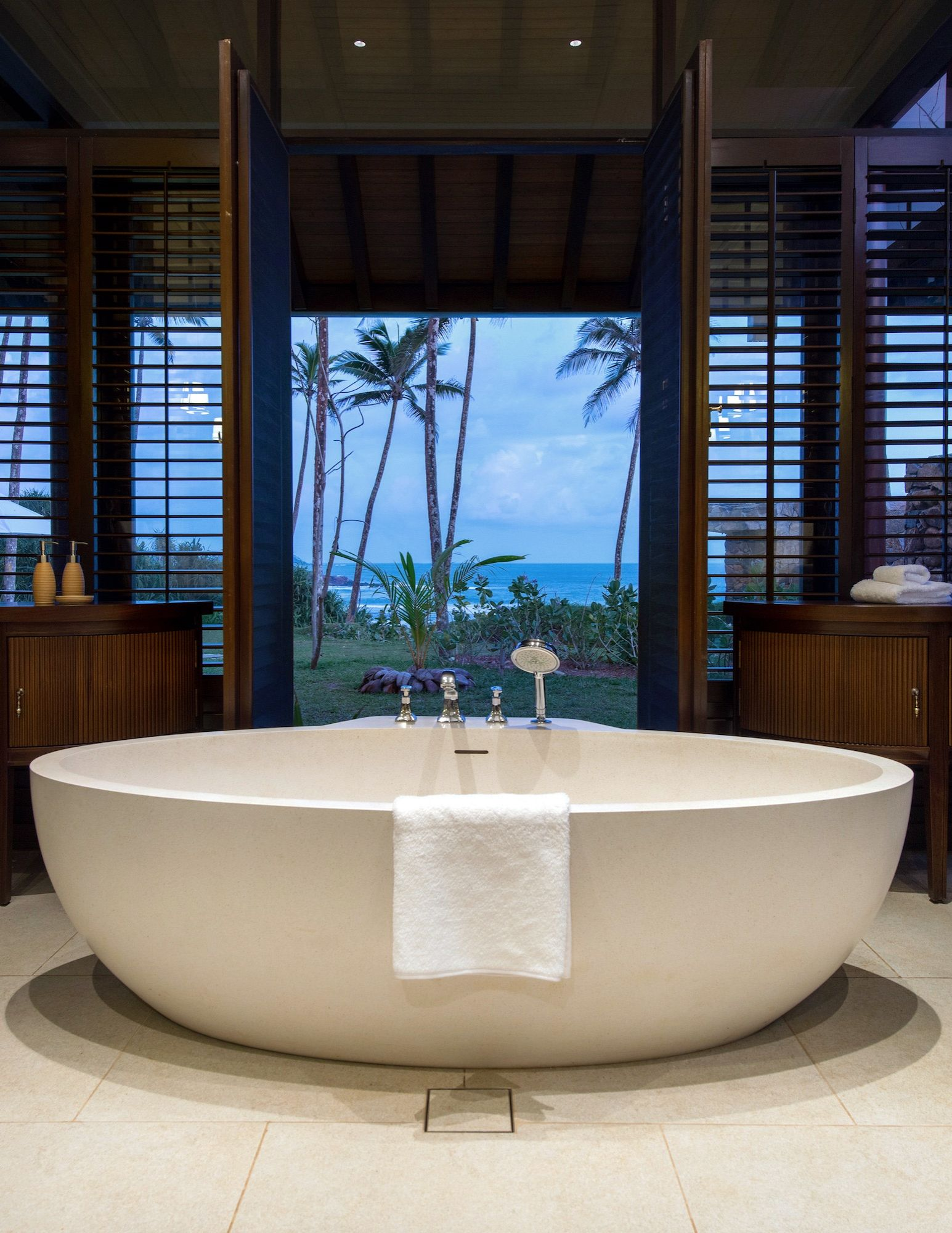 Beautiful Bathrooms In Sri Lanka sleek bathrooms feature freestanding tubs | superior interiors