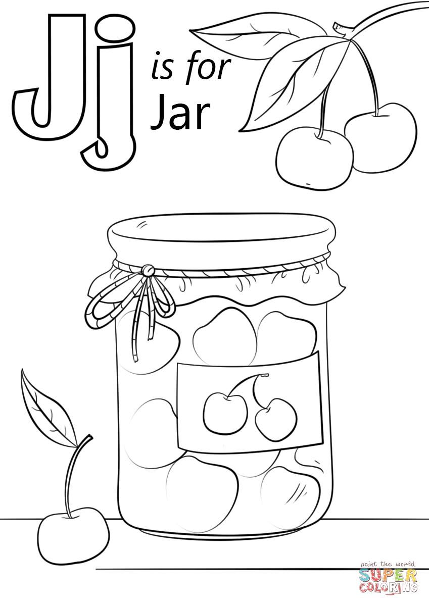 Letter J is for Jar | Super Coloring | Letter j crafts ...
