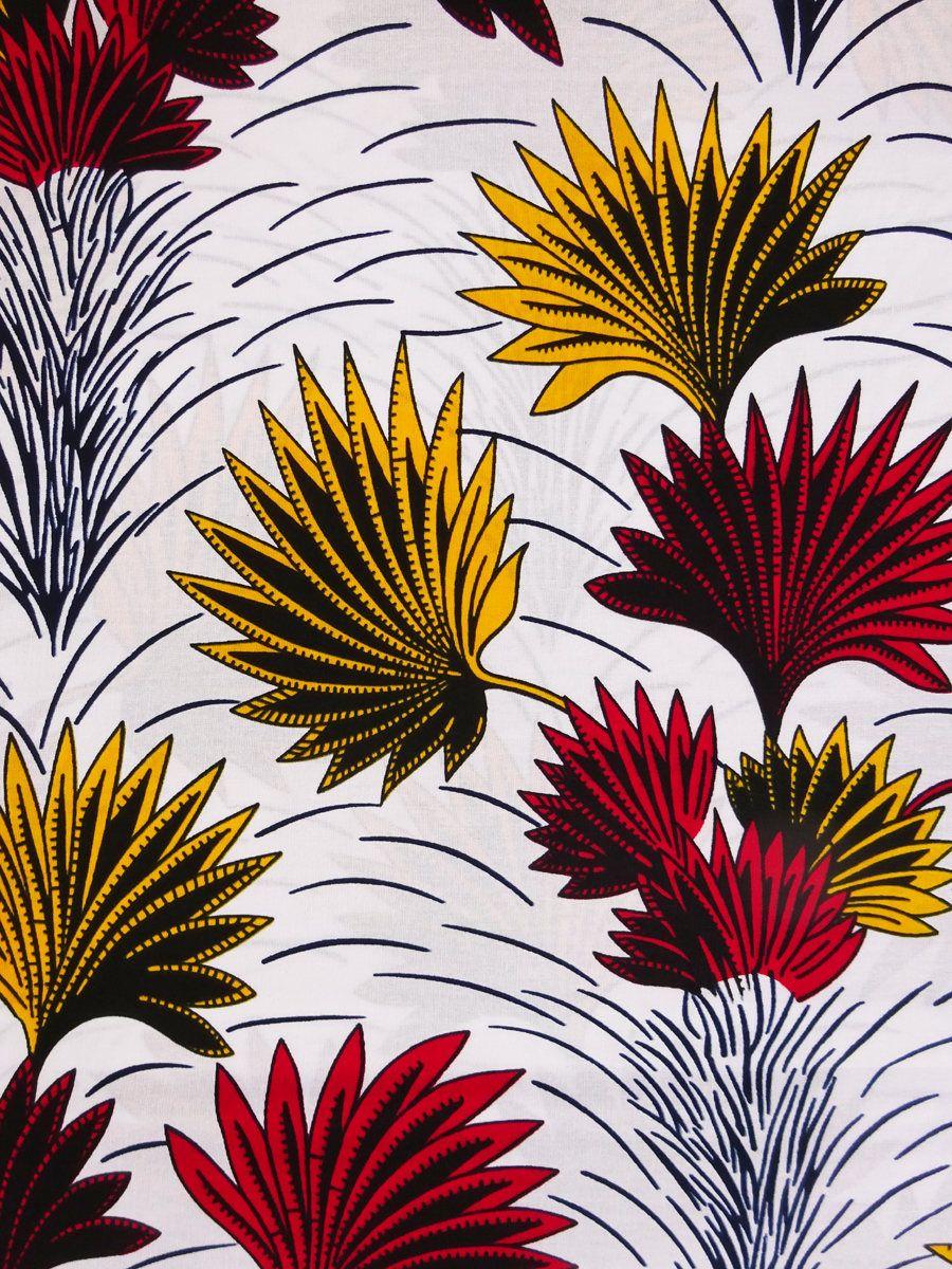 African Print Fabric By The Yard Ankara Fabric African Fabric