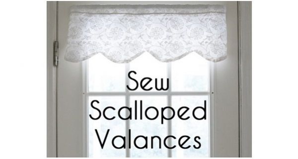 Tutorial How To Make A Scalloped Valance Sewing