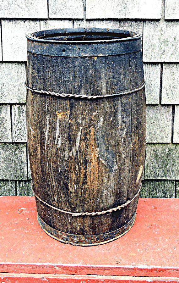 Nail Barrel Table Vintage Nail Keg Rustic Barrel Stand Umbrella ...