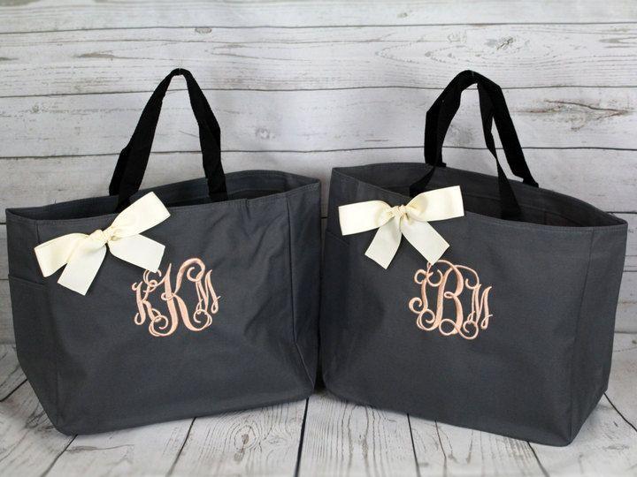 Personalized Bridal Party Gifts Monogrammed Bridesmaid Tote Bags Bridesmaid Gift Bag Maid of Honor Tote Bag Bridesmaids Totes