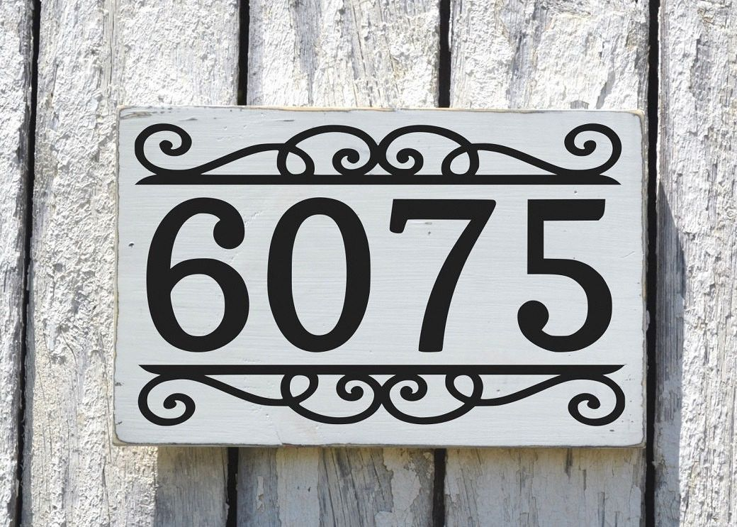 Address House Numbers Signs Personalized Outdoor Large Number Outdoor Exterior Home Plaque Painted Hanging House Number Sign Custom House Numbers House Numbers