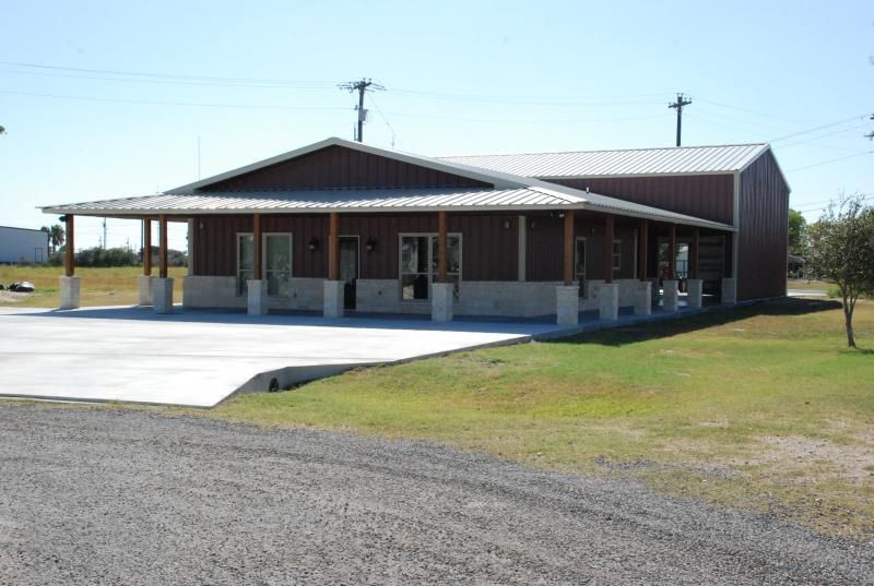 Steel building homes home for sale in port o 39 connor see for Metal building home floor plans texas