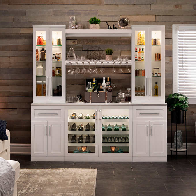 """Home Wine Bar: Home Wine Bar 8-piece 21"""" Cabinetry Set By NewAge Products"""