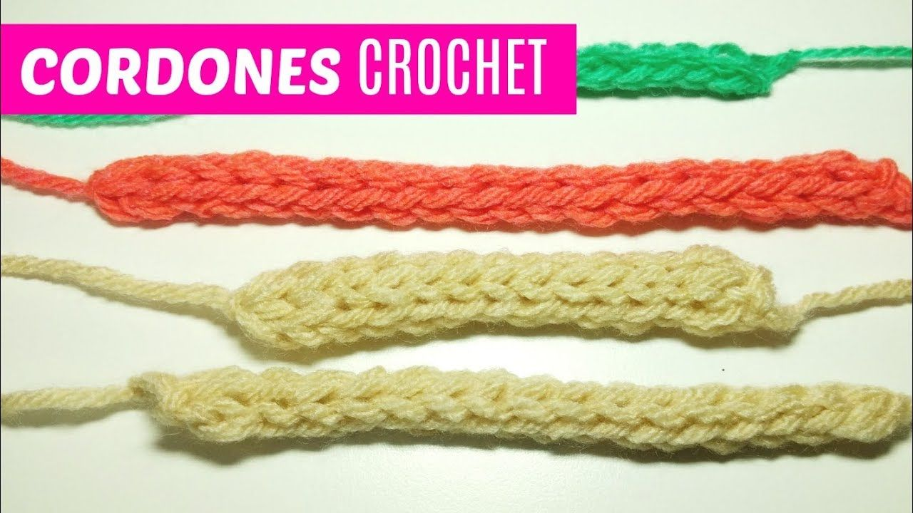 Cordones redondos a crochet | Ganchillo II | Pinterest | Cordones ...