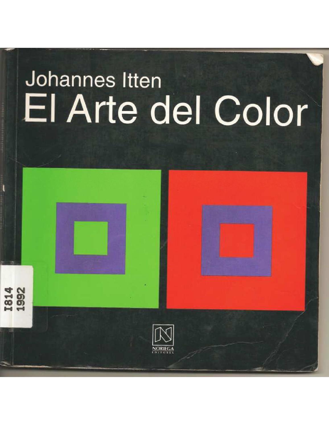 Johannes Itten - El arte del Color | Libros, El color y Color