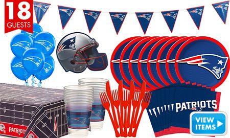 NFL New England Patriots Party Supplies Decorations Party Favors Classy Party City Super Bowl Decorations