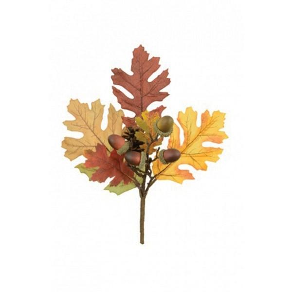 Autumn Oak Leaf Acorn And Pine Cone Pick Oak Leaf Tattoos Fall Floral Arrangements Oak Leaf
