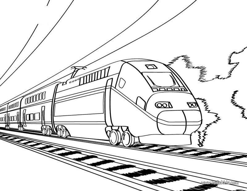 Train Kids Black And White Halaman Mewarnai Belajar Menggambar Warna