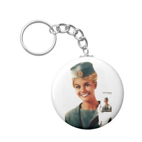 Vintage Air Hostess Budget Key Chain