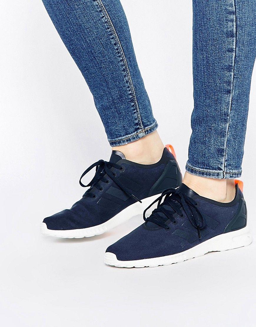 adidas Originals ZX Flux Smooth Women Blue