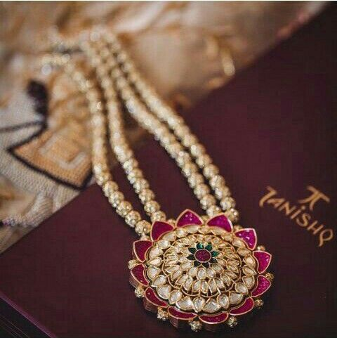 Tanishq gold kundan polki necklace | chain designs | Jewelry