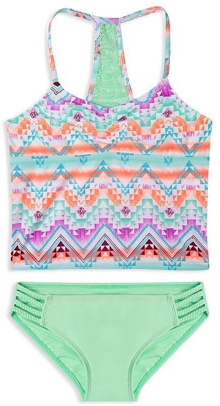 Gossip Girl Big Girls Desert Mirage Two Piece Bikini Swimsuit