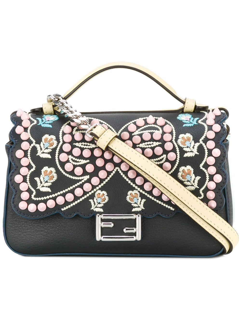 f6e2a4750d53 FENDI embroidered  Double Micro Baguette  bag