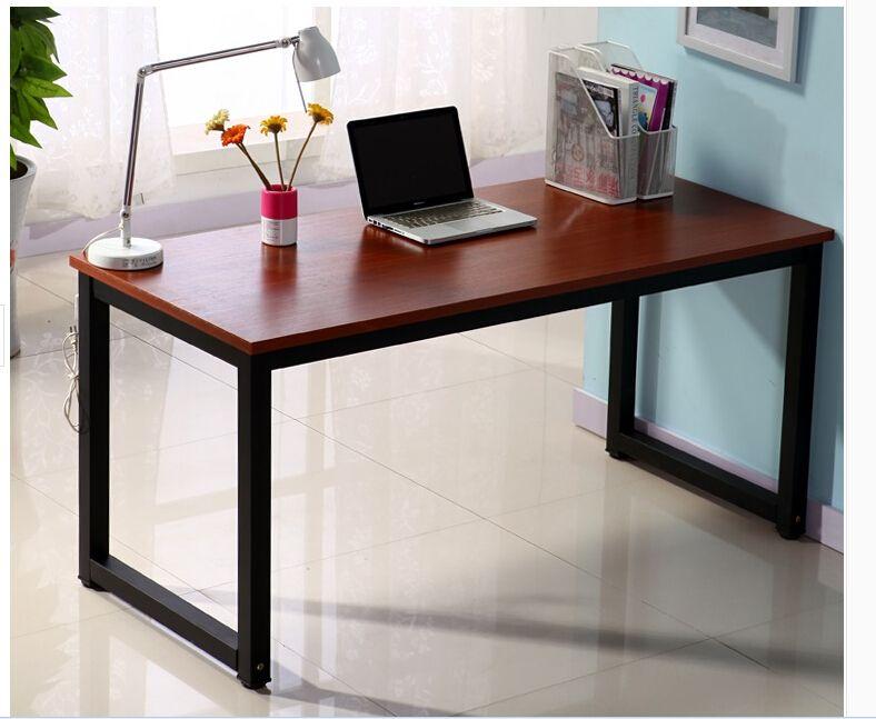 Free shipping white black green steel wooden table desk ...