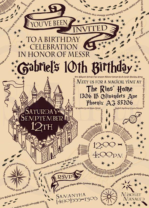 Magical Birthday Invitation Printable Wizard Party Invite