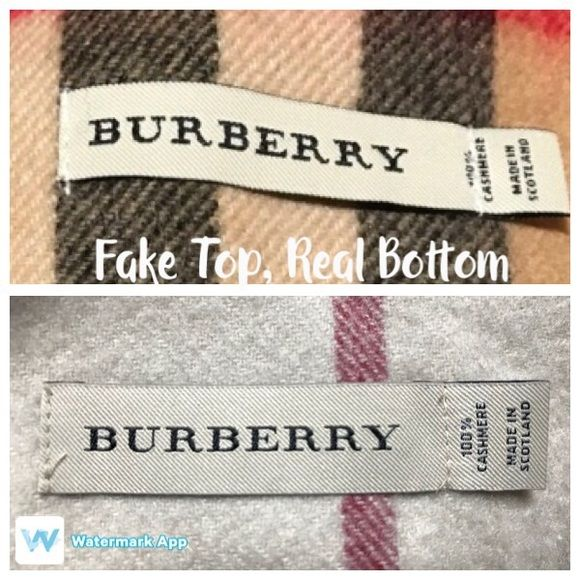 05d6e3320de42 Real vs Fake Burberry Scarf First 3 pics  Fake Burberry on top