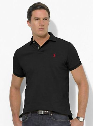 8645631b Ralph Lauren Men's Classic-Fit Mesh Short Sleeve Polo Shirt Dark Slate  http:/