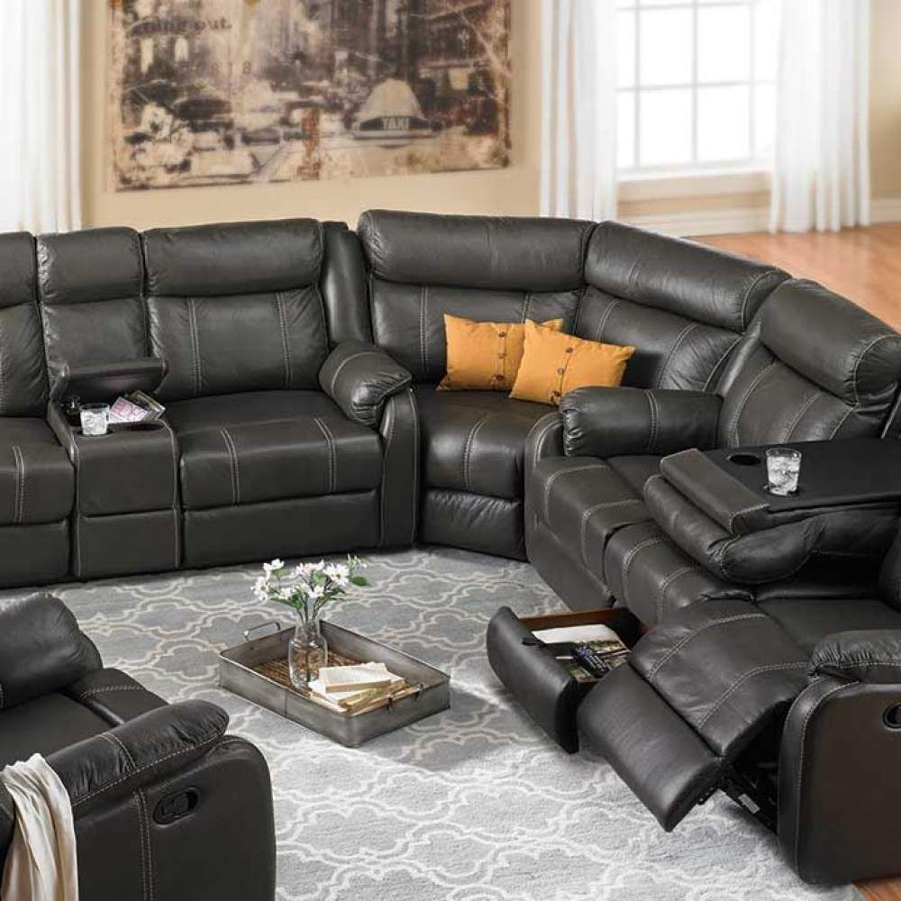 Outstanding Cache Reclining Storage Sectional Haynes Furniture Virginia Pdpeps Interior Chair Design Pdpepsorg