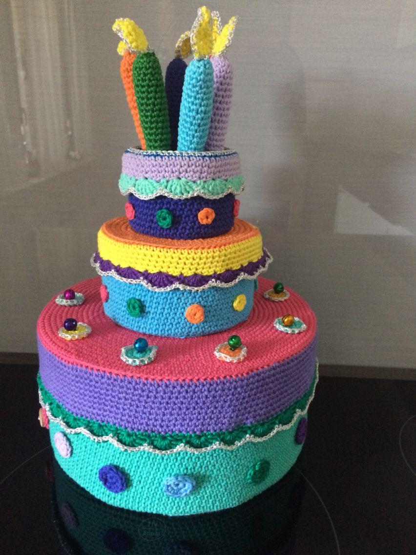 Gehaakte taart | Crochet Birthdays & Parties | Pinterest | Gebäck ...