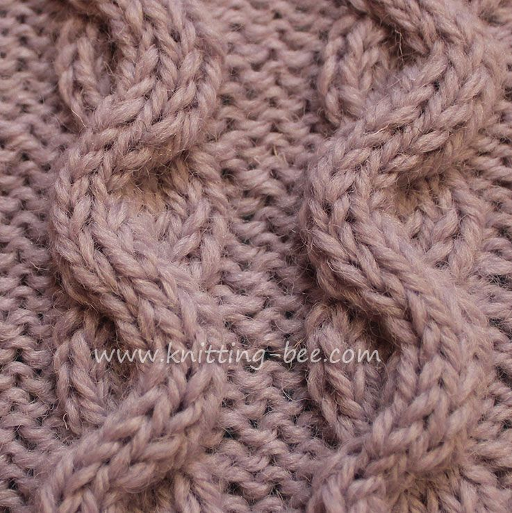 Wave Cable Aka Snake Cable Knitting Cables And Twists Pinterest