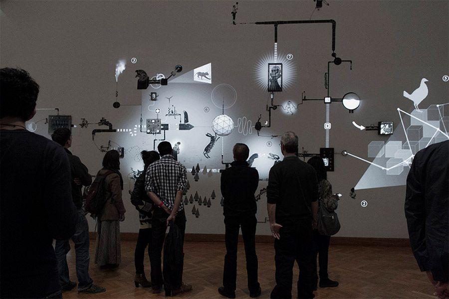 Mécaniques Discursives at Bozar Electronic Festival 2012 / Brussels / B #MecaniquesDiscursive #FredPenelle #YannickJacquet #VideoMapping #woodcut