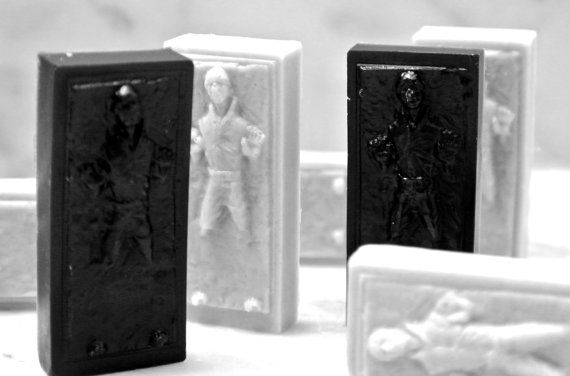 8 Mini Han Solo in Carbonite Soaps / Party Favors by SkyRainSoap, $5.00