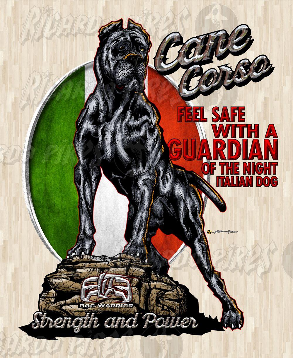 Cane Corso Guradian 2016 Ink Color Dog Designs Cane Corso