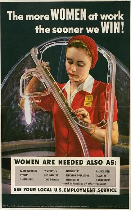 The More WOMEN at work... US c. 1942-1945