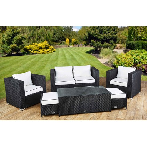 Sol 72 Outdoor Savannah 6 Seater Rattan Sofa Set With Cushions Sofa Set