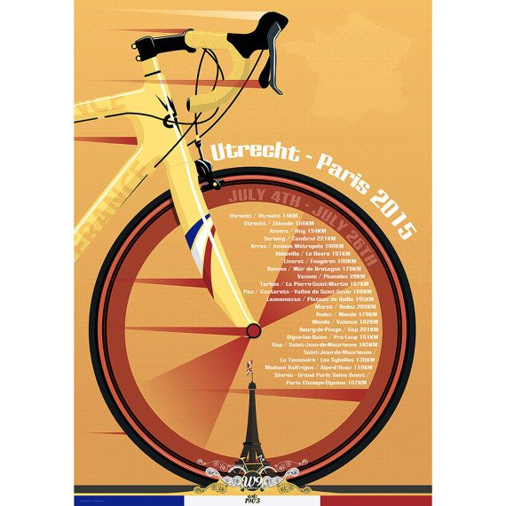 Grand Depart Utrecht Tour De France Art Print door wyatt9dotcom