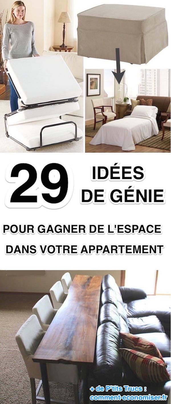 29 id es de g nie pour gagner de la place dans votre appartement futton boas ideias e. Black Bedroom Furniture Sets. Home Design Ideas