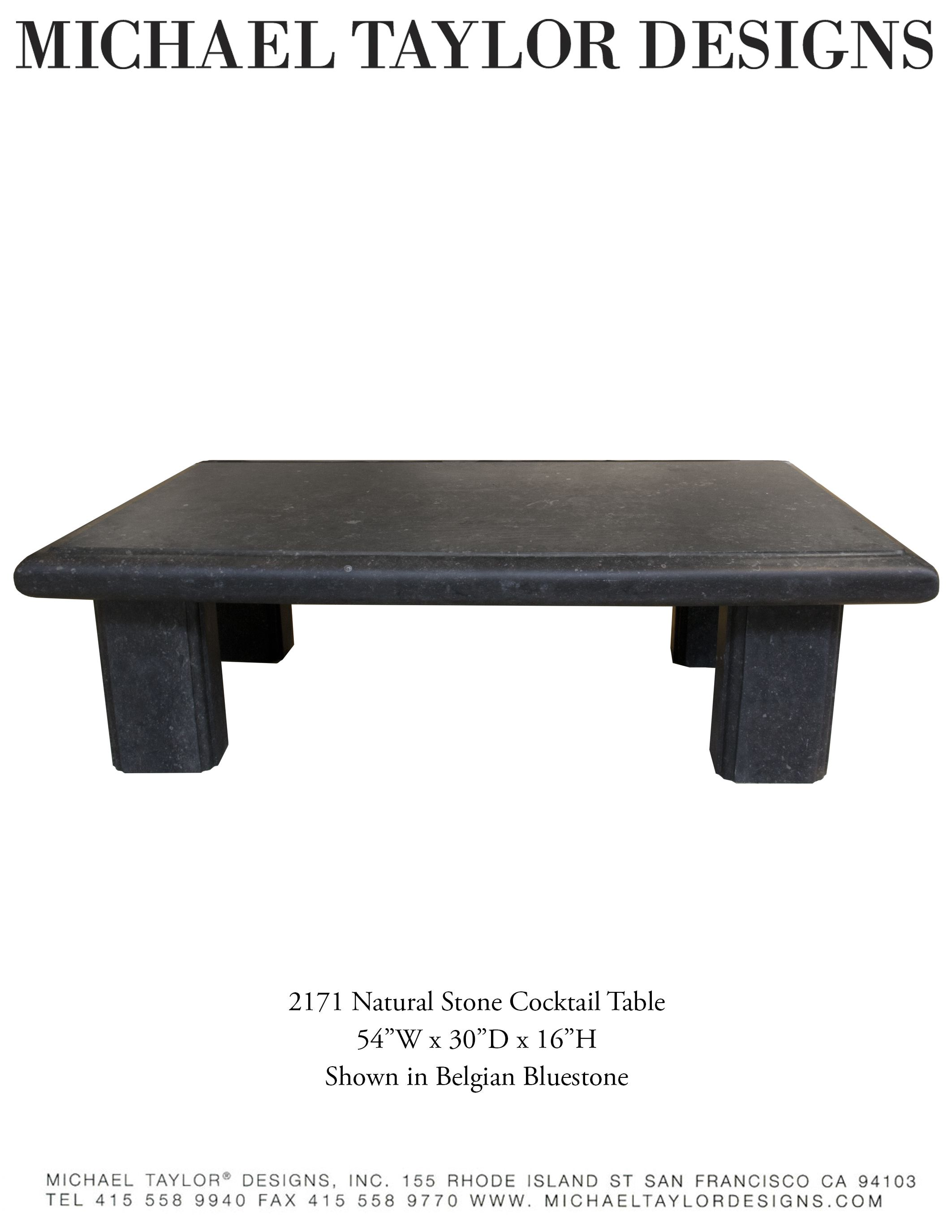 MT s Natural Blue Stone Cocktail Table