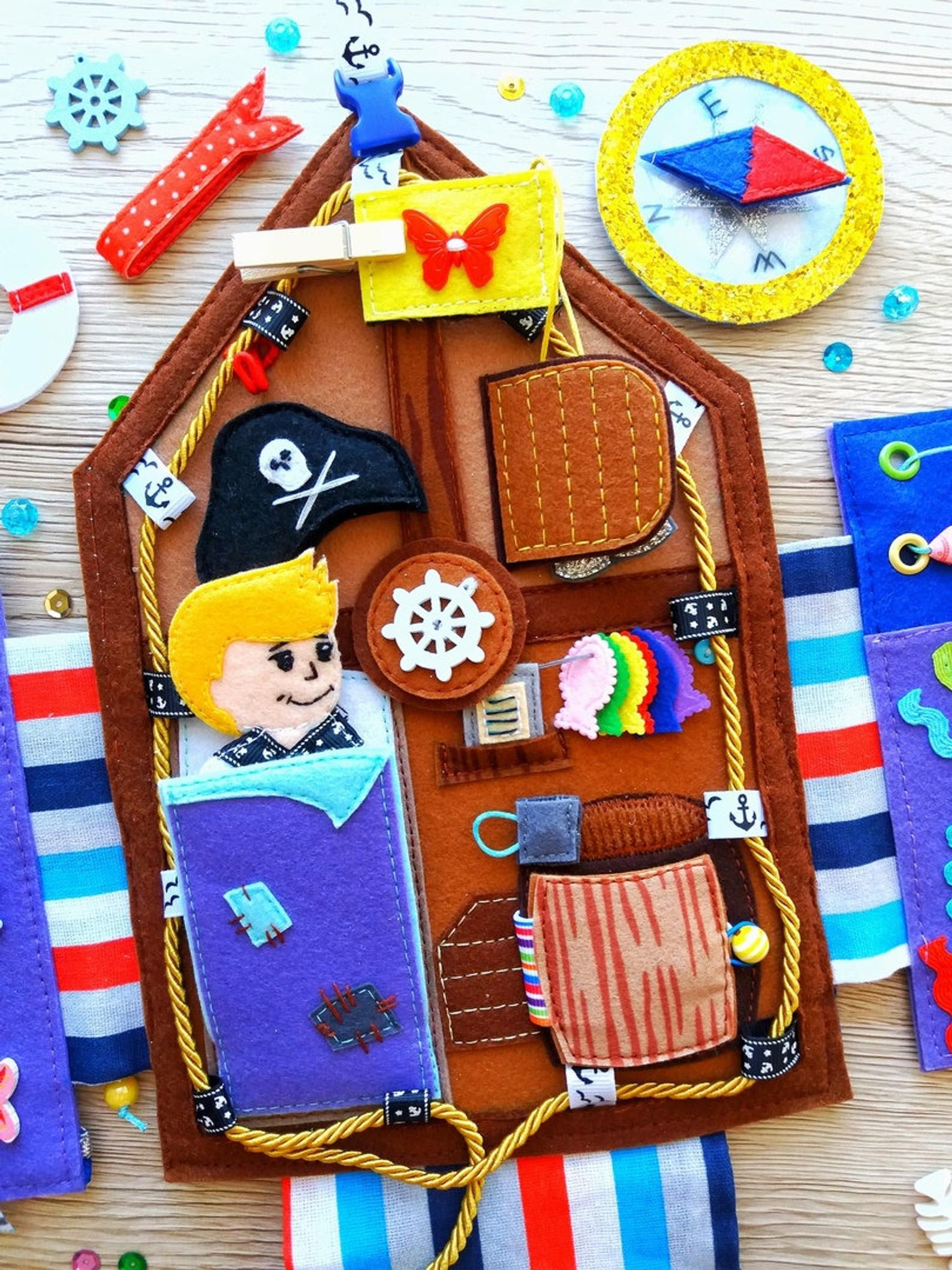 Pirates Quiet book pattern PDF with step by step Etsy in