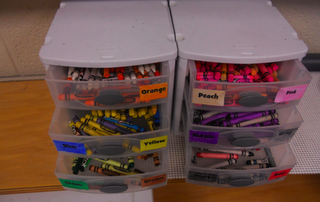 No more kids standing at the crayon box digging for 20 minutes to find a color they need!