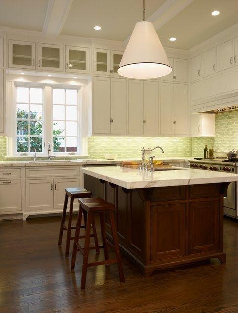 Best Craftsman Kitchen With White Cabinets And Dark Island 400 x 300