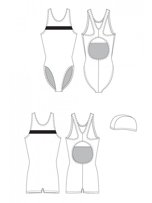 Swimsuit, Legsuit and Swim Cap | Cap, Patterns and Sewing patterns