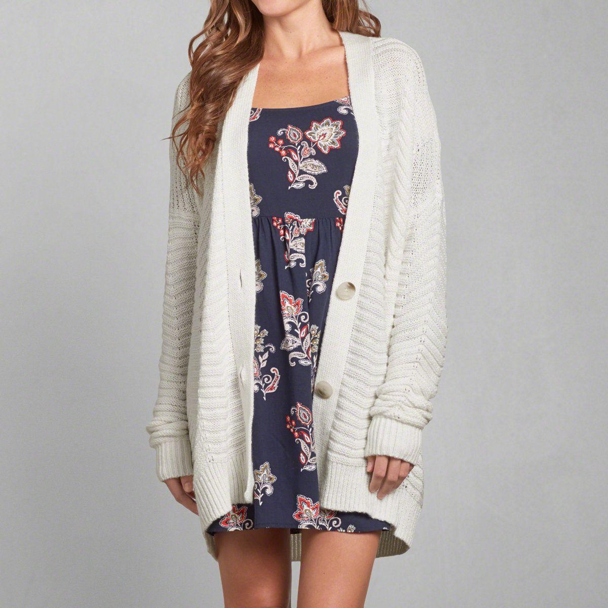 Womens Textured Knit Boyfriend Cardigan | Womens Sweaters ...