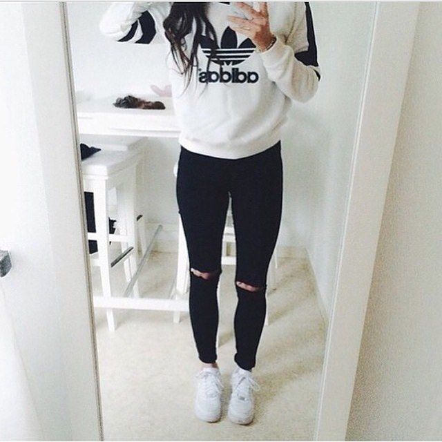 Inspiring image adidas, fashion, girl, outfit, style by patrisha -  Resolution - Find the image to your taste