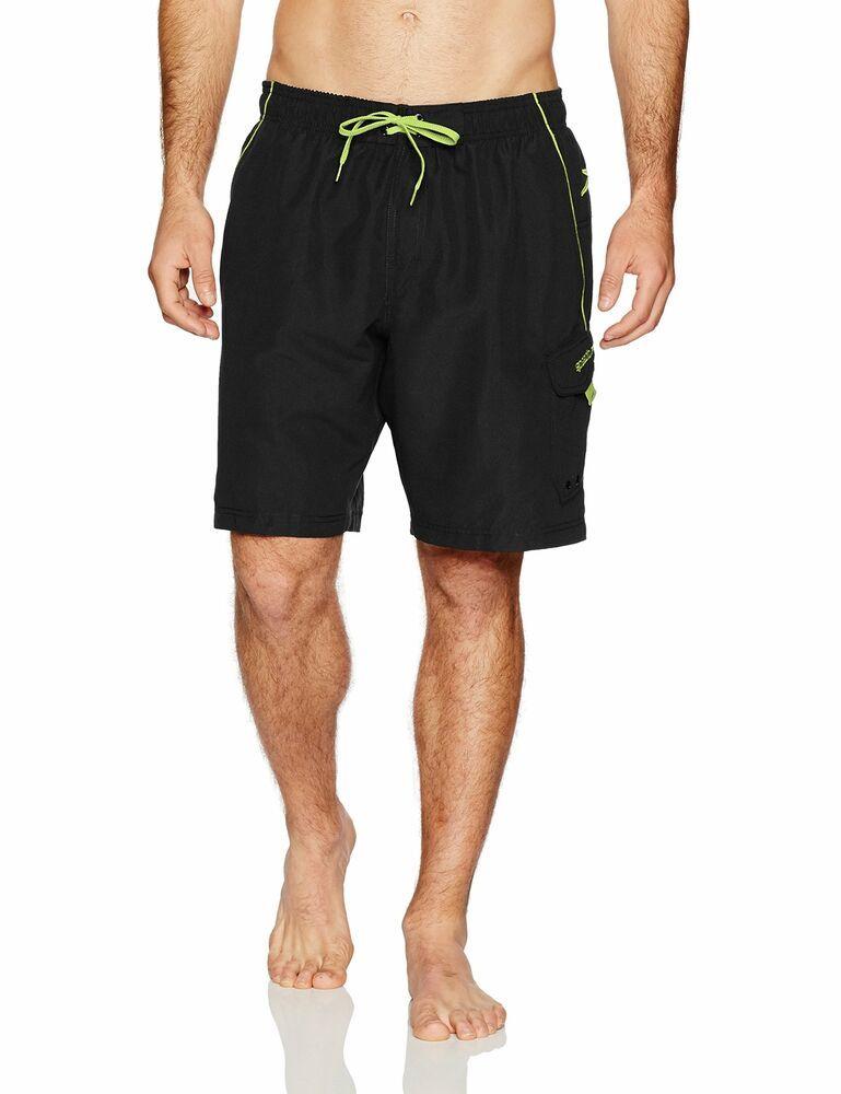 44cc669c09 Men's Clothing by Activewear and Swimwear. (eBay Sponsored) Speedo NEW  Black Green Mens Size Small S Marina Volley Swim Trunks