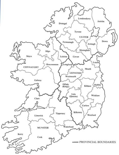 Map Of Ireland In 1833 Donegal On The Top Right Corner Is Where