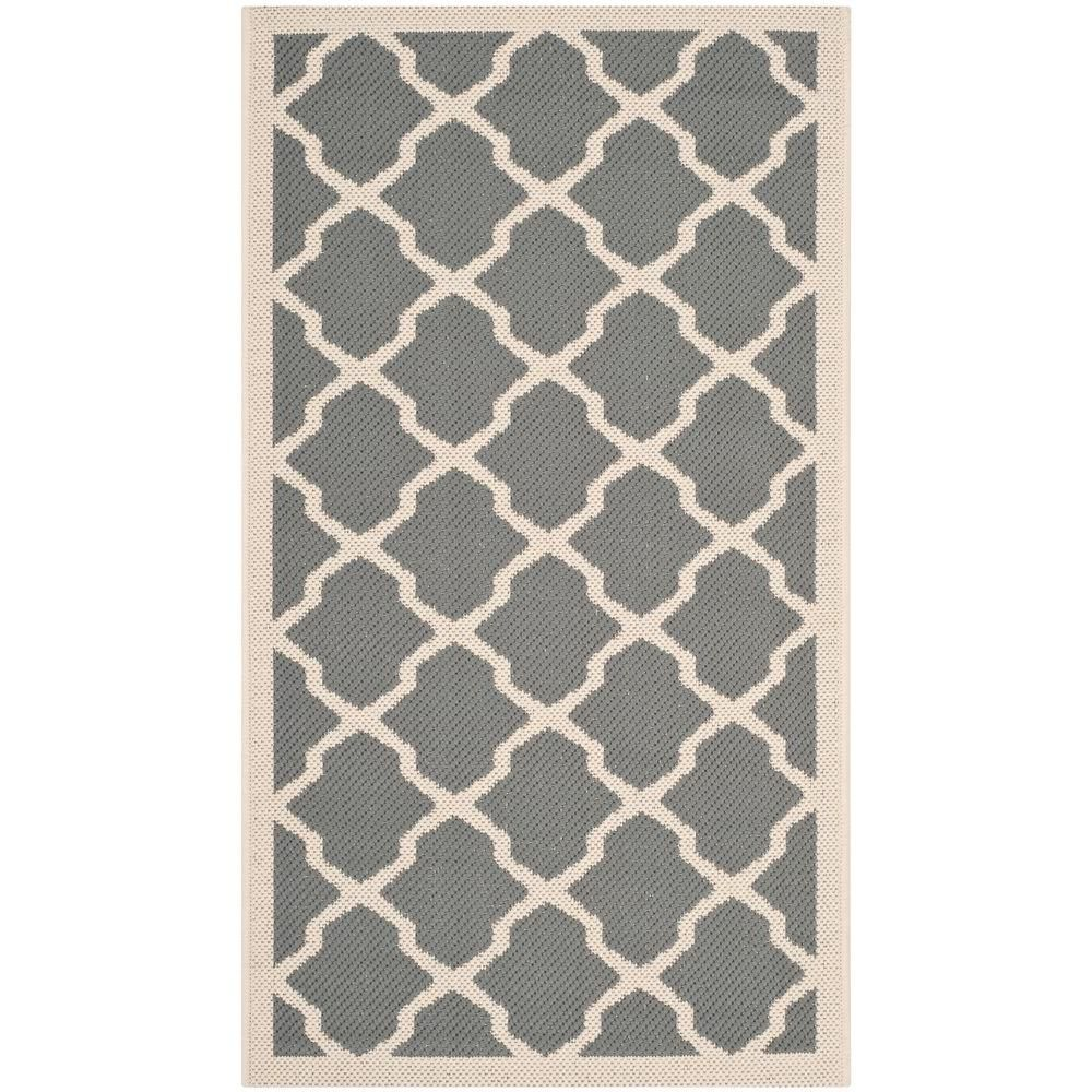 Courtyard Anthracite/Beige (Grey/Beige) 2 ft. x 3 ft. 7 in. Indoor/Outdoor Area Rug