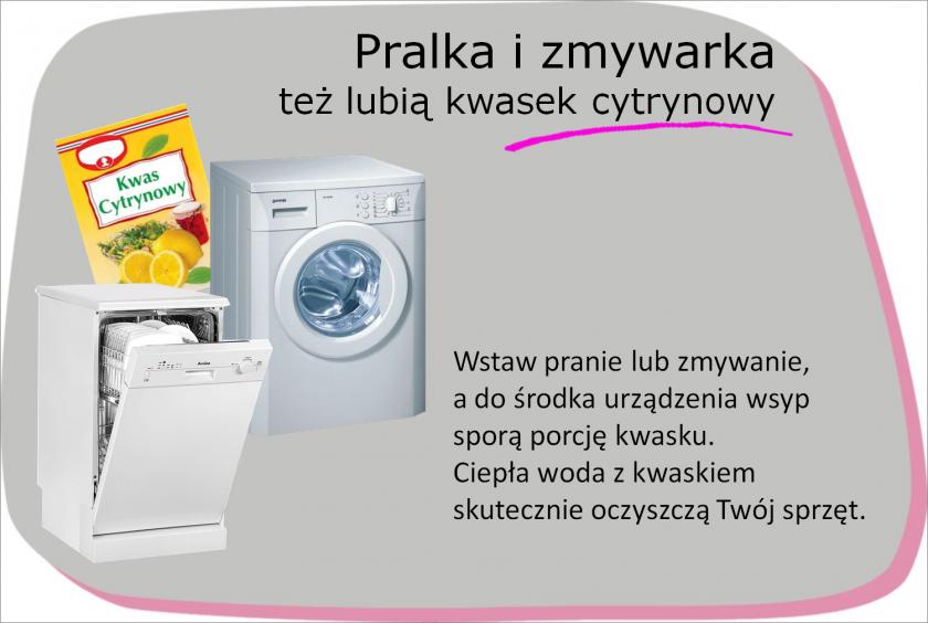 Pralka I Zmywarka Tez Lubia Kwasek Cytrynowy Washing Machine Laundry Machine Life